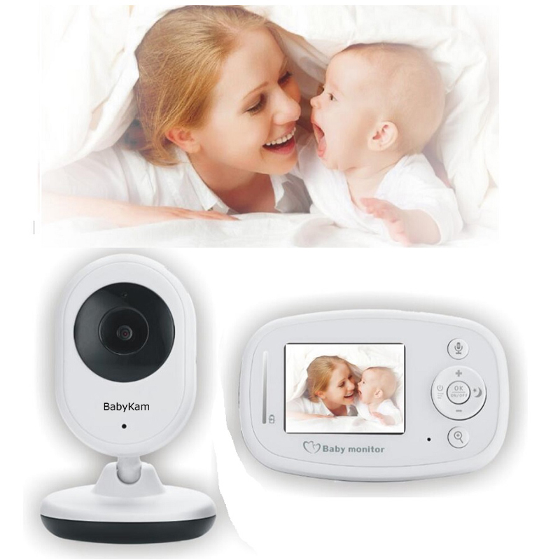 BabyKam Baby Monitor with Camera 2.4 inch Wireless Digital LCD Babyfoon Camera Intercoms Radio Night Vision Temperature Monitor