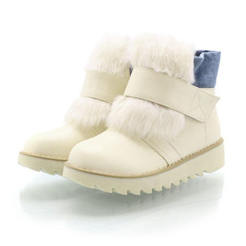 Big Size 34-43 Fashion Ankle Half Knee High Snow Boots Sexy Women Buckle Flat Heels Winter Warm Shoes winter warm snow boots cotton shoes flat heels knee high boots women boots wholesale high quality
