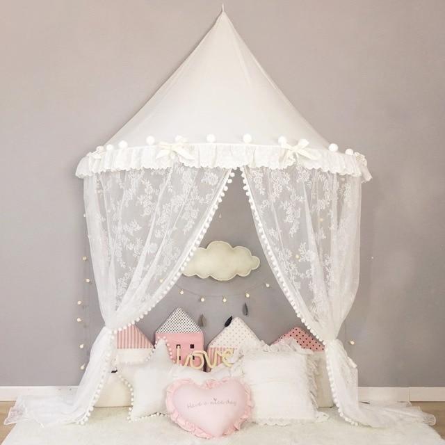 Great Wei Prinzessin Baldachin Schmuck Hngen Baby Bett Net Tipi Zelt Kinder  Spielhaus Kinder Tipi Enfant Moskito With Prinzessin Bett Wei