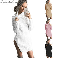 2017 Autumn And Winter Sexy Casual Vintage Hollow Women Sweater Long Sleeve Loose Turtleneck Knitted Pullover