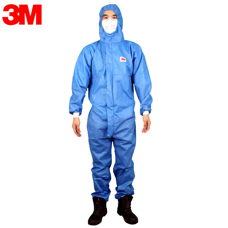 3M Protective Coverall 4532 Hooded Protective Elastic Waist Clothing Against Dry Particles Anti-static Coating Serge Type LO001