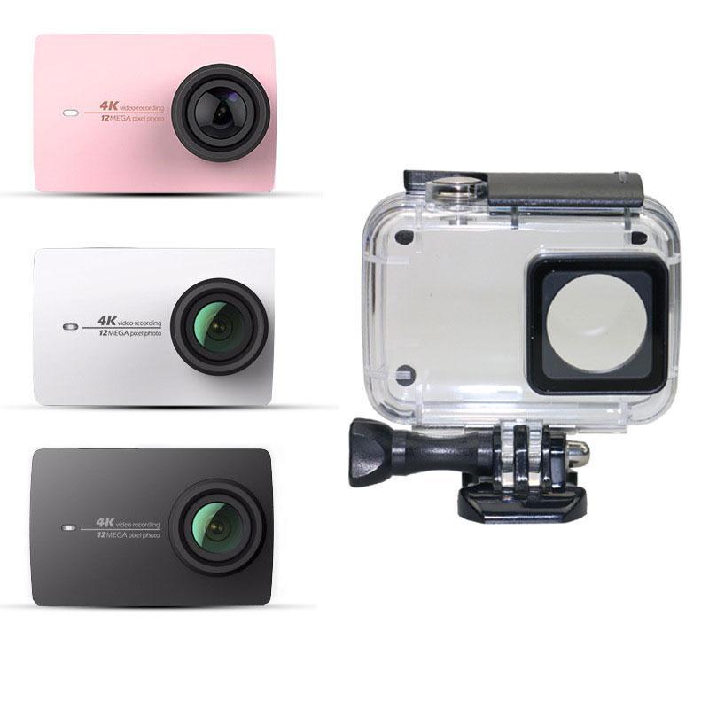 Caixa Caso de Mergulho À Prova D' Água Para Xiaoyi Gizcam Para YI Esportes câmera II 2 Caso 4 K + 4 K/60FPS Câmera Ação Da Câmera de Proteção habitação
