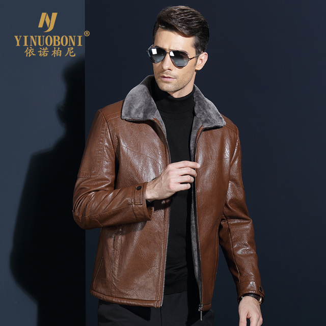 Top Quality Men Geniune Sheepskin Jacket Male Wool Warm Jacket Men ItalianDesign Brand Coat Winter Cashmere Coat For Men XXXL 1