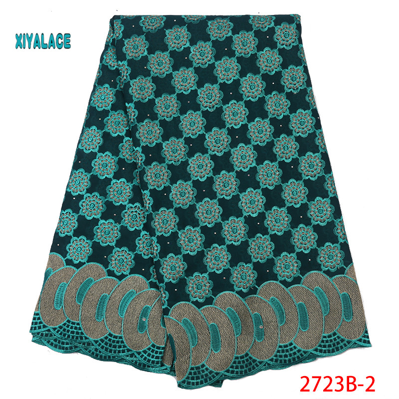 African Lace Fabrics Swiss Voile Lace 2019 Nigerian Swiss Voile Lace High Quality French In Switzerland For Wedding YA2723B-2