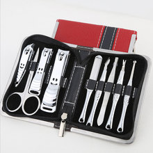 Stainless steel Manicure Set Pedicure Carved Nail Clipper Kit Nail Care Tool Sets Cuticle Knife Ear