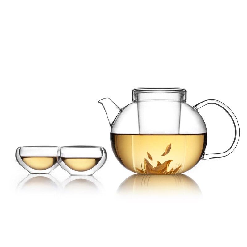 ₩Teteras de vidrio drinkware Sets té y café tetera de vidrio ...
