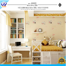 Kids Room Non - Woven Wallpapers Hello Kitty Cats Environmental Background Wallpaper(China (Mainland))