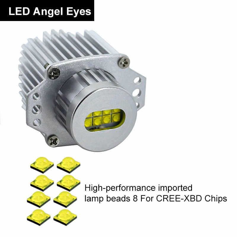 1Set 2*80W 160W LED Halo Ring Marker Angel Eyes Light Bulb Canbus Error Free For BMW E90 E91 325i 328i 320i 330i 2005-2008