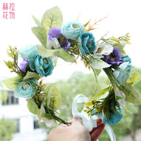 2019 Real For Hot Simulation Wreath Hair Hoop In Europe And The Bride Tire Headdress Flower Children Act Role Ofing Is Tasted