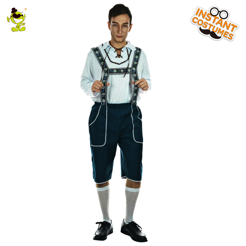 New Male Mr.oktoberfest Costume Fancy Dress Bavarian Costume One Size Adult Men Beer Jumpsuit for Carnival&Halloween Parties