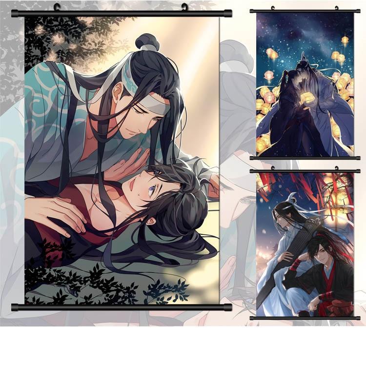 (40*60cm)Mo Dao Zu Shi Plastic Wall Stickers Anime Around Posters Wall Scroll Painting Mo Dao Zu Shi Fiction Painting
