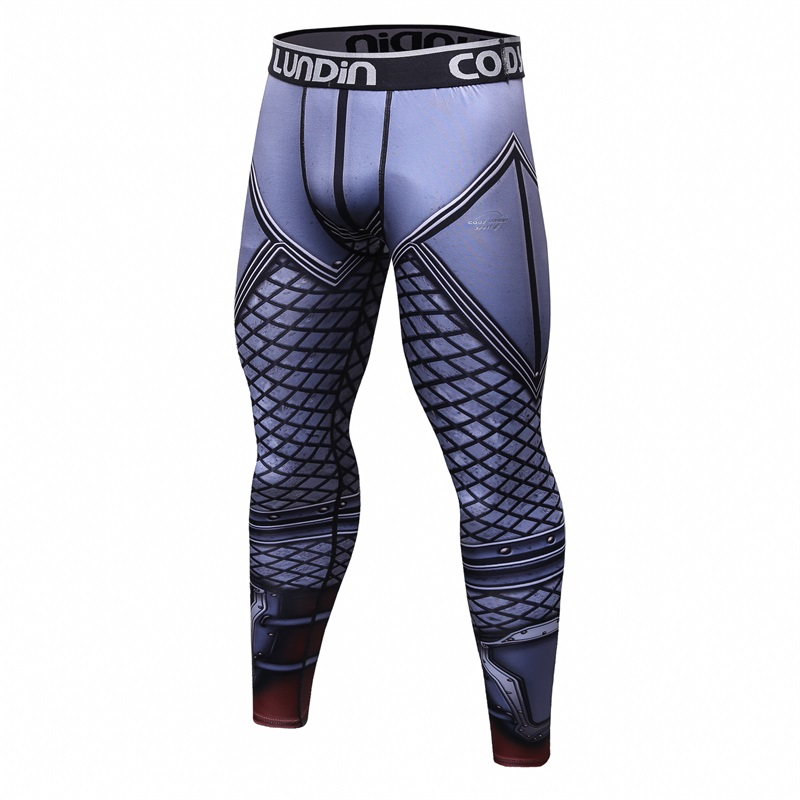 2018 New 3D Printed Men's Pants Full Length Fashion MMA Compression Quick Dry Skinny Crossfit Fitness Leggings Male Cody Lundin