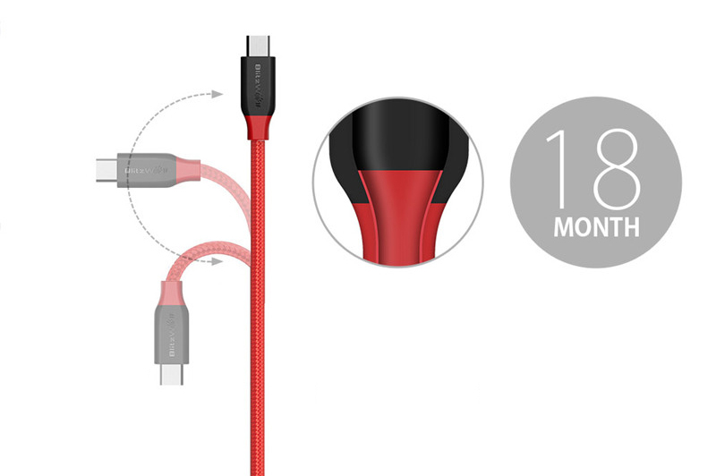 Фото BlitzWolf Micro USB Cable USB Android Data Cable Mobile Phone Cables Fast Charging Cable 1m 1.8m 2.5m For Samsung Android Phones