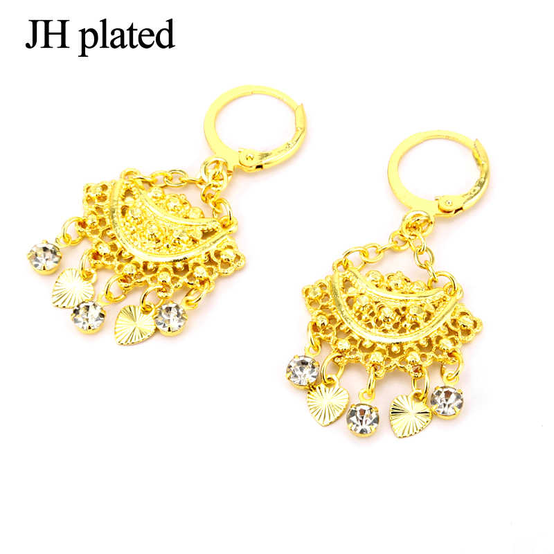 JHplated Ethiopian Fashion Jewelry,Africa Earrings for Women  24k  Earrings Indonesia,Nigeria,arab,Middle east