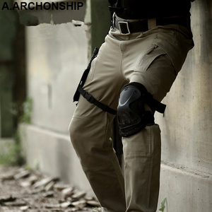Image 5 - Мужские тактические брюки карго IX9, повседневные хлопковые брюки карго в стиле милитари, SWAT, 2017