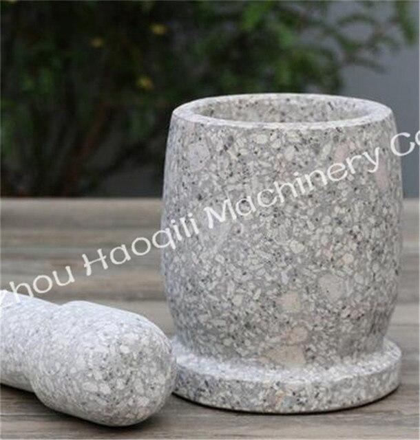 Steinmörser stein mörser und stößel satz knoblauch pugging topf mühle
