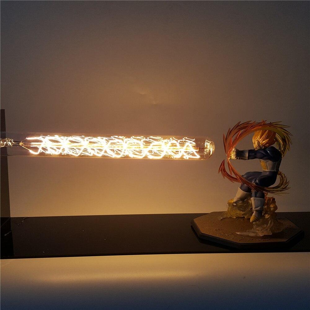 Dragon Ball Z végéta Figura Super Saiyan table lumineuse LED lampe canon Dragon Ball Super végéta PVC modèle Goku jouet figurine