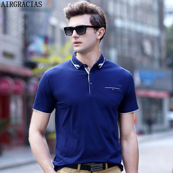 Airgracias polo shirts men s slim fit solid color summer breathable polo shirt fashion business leisure.jpg 350x350