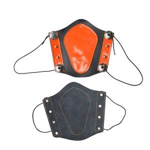 Image 3 - 1 unidad de protector de brazo de piel de vaca gruesa elasticidad ajustable brazo de Tiro con Arco profesional equipo de protección de seguridad