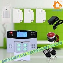 433 МГц Голосовые Подсказки Беспроводной GSM Домашняя Охранная Сигнализация с 850/900/1800/1900 МГц