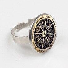Zodiac Wicca Ring Silver Crescent Retro Women Jewelry Men Gift