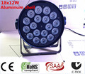 Aluminum shell 18x12W RGBW Led Par Light DMX Stage Lights Business Lights Professional Flat Par Can for Party KTV Disco DJ Lamp