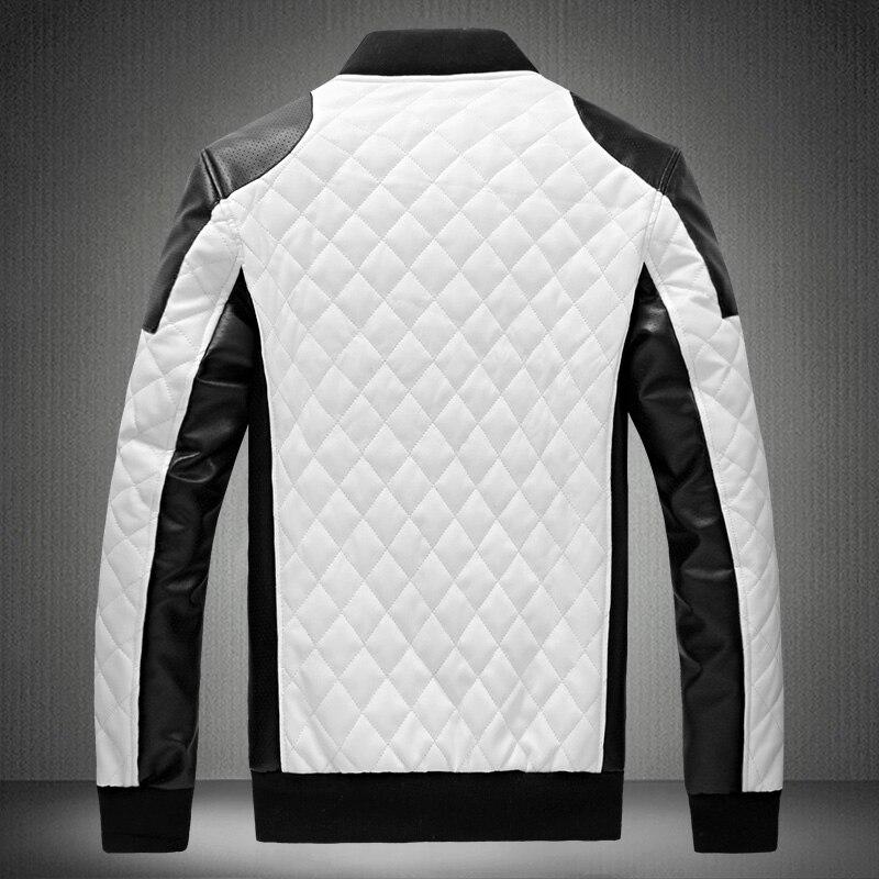2017 kış erkek fermuar tasarım deri Panka Ceket erkekler İnce PU - Erkek Giyim - Fotoğraf 2