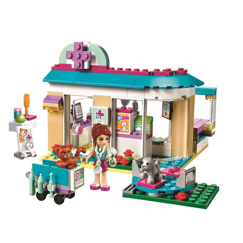Pogo Lepin 2016 10537 203Pcs Vet Clinic Kits Girls Friends Building Blocks Bricks Toys Compatible Legoe billet extendable folding brake clutch levers for kawasaki zrx 1100 1200 99 07 00 vn 1500 1600 classic tourer mean streak 98 06