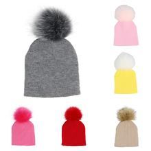 e9bba6d3dc1 SANWOOD Cute Pompom Beanie Caps Outdoor Winter Toddler Baby Boy Girl  Elastic Knitted