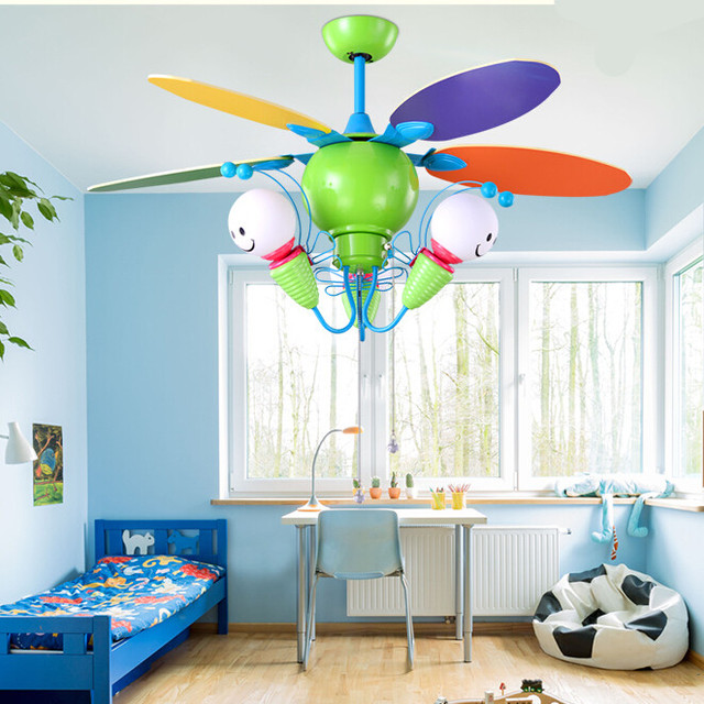 Buy cartoon three bees of children 39 s fan for Kids room ceiling fan