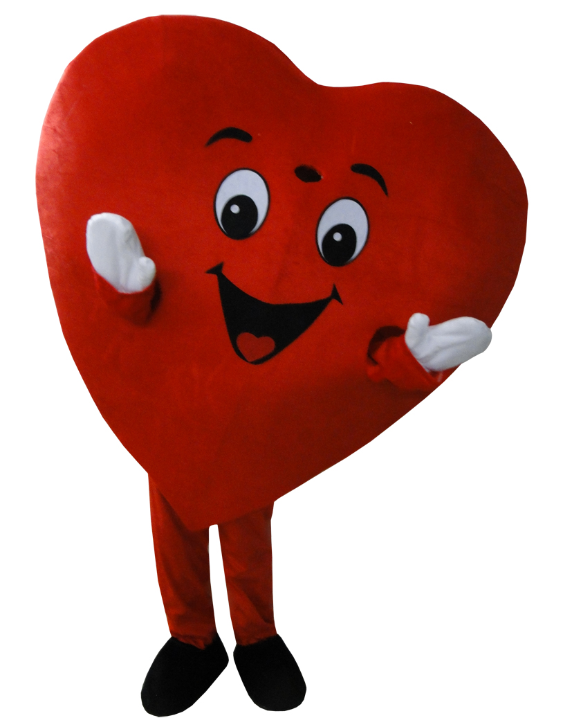 Hot Selling Red Heart Adult Mascot Costume Fancy Dress