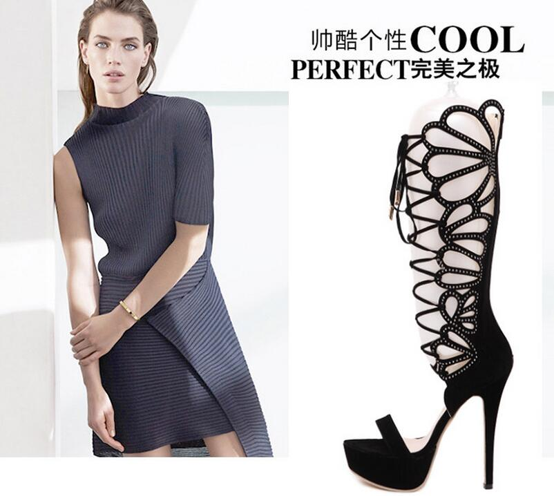 48ec76bf52 New Summer Designer Sandals Fashion Rhinestone Gladiator Sandals Vintage  Style Strappy High Heel Sandals Sexy Stripper Heels-in Over-the-Knee Boots  from ...