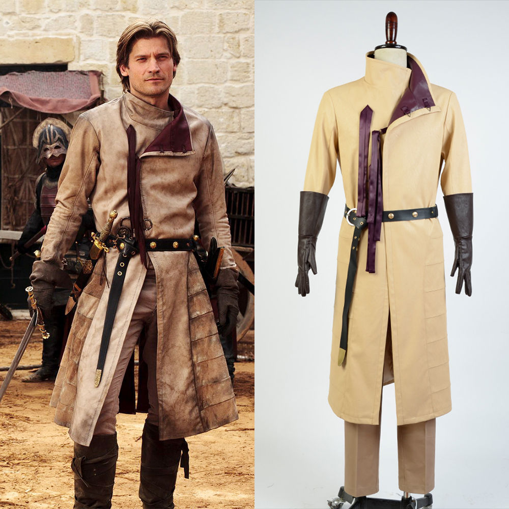 GoT Game of Thrones Kingslayer Ser Jaime Lannister Outfit Cosplay Costume For Adult Men Full Set