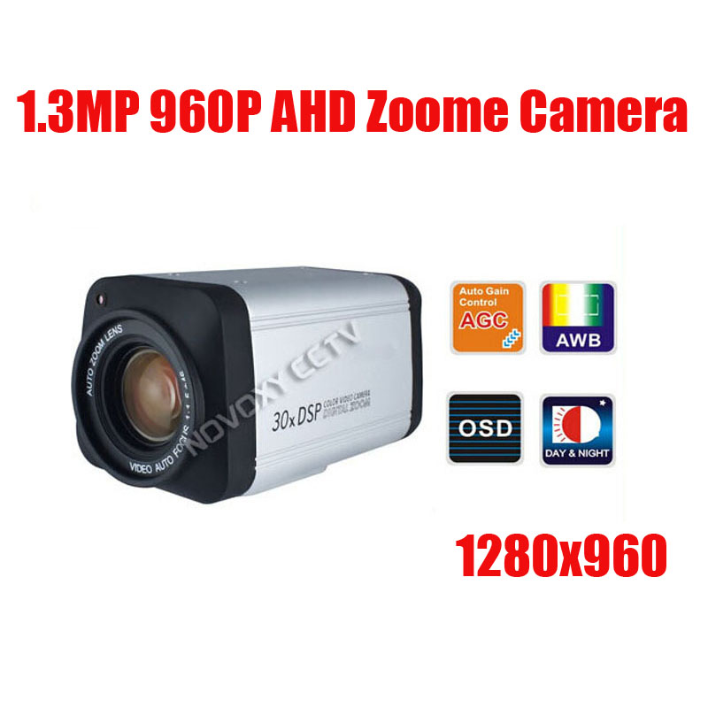 Free Shipping 1.3MP 960P AHD Zoom Camera 30x Optical 3.3-99mm Varifocal Lens IR CUT HLC CCTV Zoom Camera Security Camera