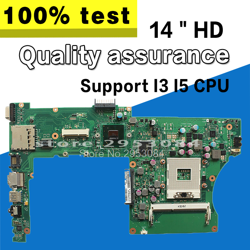 X301A X401A X501A laptop motherboard for ASUS X401A 14 HD support CPU I3 I5 PGA989 tested Ok and Top quality in stock stock 100
