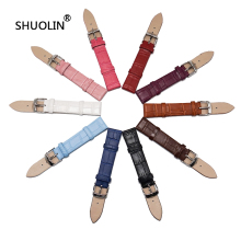 Genuine Leather watchbands 12 /14/16/18/20mm Bamboo pattern 10 candy colors watch strap 16mm Watchband 20mm 2016 new straps J013