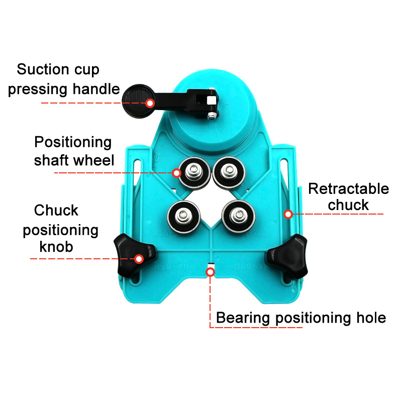 Drill Bit Tile Glass Hole Locator Saw Core Bit Guide Opening Adjustable 4-83mm SDF-SHIP