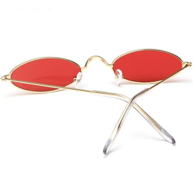 8fc7a04c39 NYWOOH 90s Oval Sunglasses Women Luxury Brand Designer Shades Sun Glasses  Men Metal Round Eyewear Vintage Sunglass