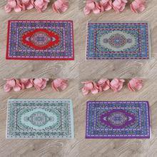 Hand Woven Turkish Rugs Doll House Mini Carpet Mat Miniature Casa De Boneca For 1:12 Scale DIY Dollhouse Accessories Kit