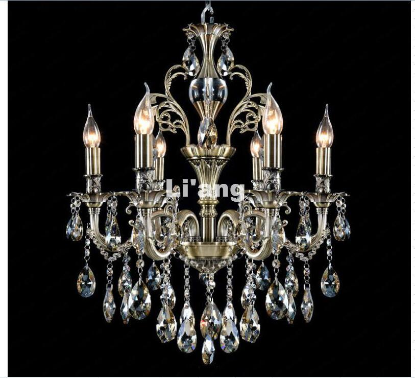 Фотография Free Shipping Crystal Chandelier Hanging Light Fitting Good Quality K9 Crystal European Decora Drop Lustre for Living Room Light