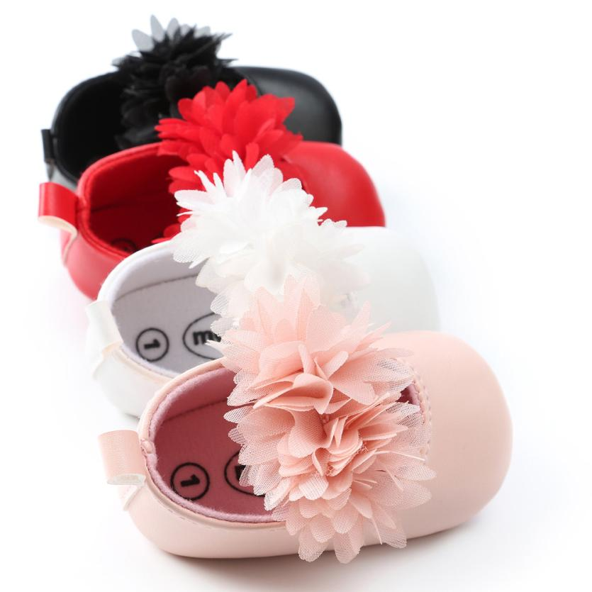 TELOTUNY 2018 Baby Girls Shoes Newborn Baby Girl Princess Flower Fashion Toddler First Walkers Kid Shoes     M29