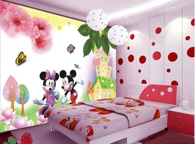 can customized Cartoon dream Animal fairy tale girly kids room large 3d  mural wallpaper wall paper fresco dinning room bedroom