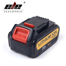 ELEOPTION 20V 4000mAh Replacement Battery For DeWalt DCB200 DCB181 DCB182 DCB204-2 Rechargeable Li-ion Battery