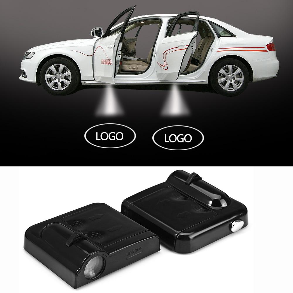 2x Car LED Door Warning Light welcome Logo Projector For Audi a3 a4 a5 a6 b5 b6 b7 b8 c5 c6 q5 and most cars