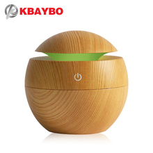 KBAYBO 130ML Ultrasonic Air Humidifier Aroma Essential Oil Diffuser for Home USB Fogger Mist Maker with LED colorful Night Lamp