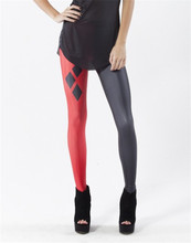 2016 New Design Harley Quinn Leggings Fashion Women Clothes Digital Print Sexy Casual Fitness Halloween Pants Jeggings S-4XL