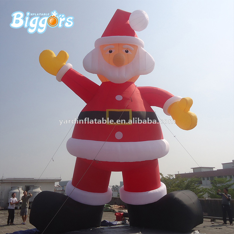 Hot Sale Giant Advertising Inflatable Christmas Santa Cartoon Characters For Decoration 5m high big inflatable christmas santa claus climbing wall decoration 16ft high china factory direct sale festival toy