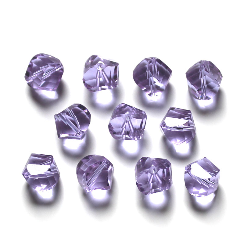 StreBelle Twist Cube Shape Austrian crystal beads Transparent beads ball 10mm 100pcs supply bracelet Jewelry Making DIY in Beads from Jewelry Accessories