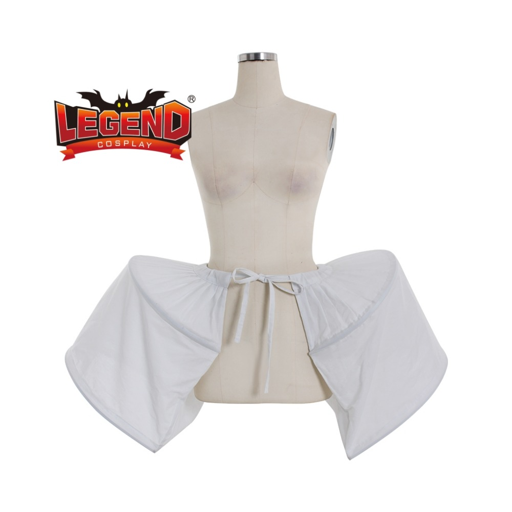 Victorian Rococo Dress Petticoat Crinoline Underskirt Ladies White Cage Frame Pannier Bustle Medieval Cosplay Accessory