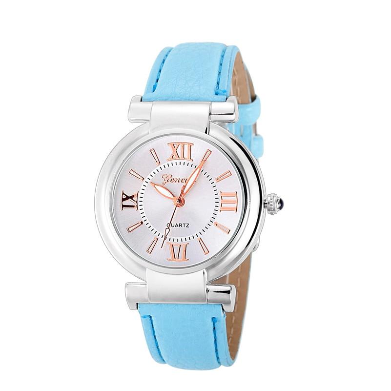 женские часы кварцевые женские часы римские цифры кожаный ремешок коль саати саат наручные браслет женские часы релох mujer баян